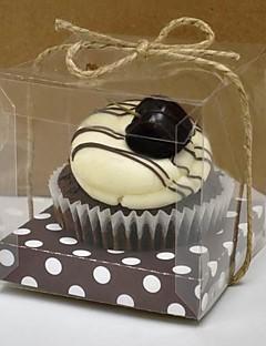 mooie bruine cupcake box - set van 12