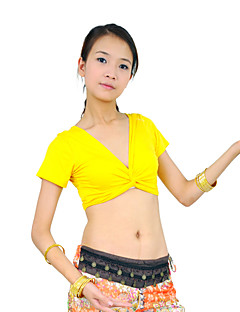 Belly Dance Tops Women's Training Mercerized Cotton Black / Blue / Fuchsia / Orange / Pink / Purple / Red / Yellow Belly DanceSpring /