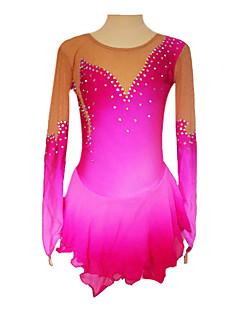Aksamitna kryształowa sukienka łyżwiarska z długim rękawem