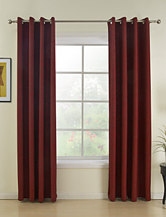 modern two panels solid red dining room curtains drapes