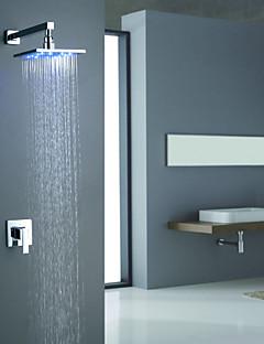 Sprinkle®  Brusehaner  ,  Moderne  with  Krom Enkelt Håndtag To Huller  ,  Funktion  for LED Vægmontering