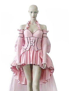 Inspired by Chobits Chii Anime Cosplay Costumes Cosplay Suits / Dresses Patchwork Pink Long Sleeve Dress