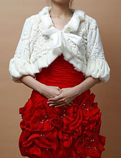 아름다운 가짜 모피 파티 / 웨딩 저녁 재킷 / 장식 조각 랩 (더 색) 볼레로 어깨를 으쓱