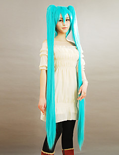 Cosplay Wigs Vocaloid Hatsune Miku Plava Extra Long Anime / Video Igre Cosplay Wigs 150 CM Male / Female