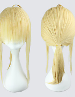 Cosplay Wigs Fate/Zero Saber Golden Medium Anime Cosplay Wigs 45 CM Heat Resistant Fiber Female