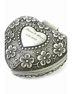 Personalized Elegant Heart-shaped Decorative Pattern Tin Alloy Women's Jewelry Box