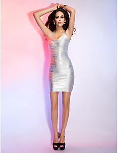 Sheath/Column Scoop Sleeveless Short/Mini Bandage Dress