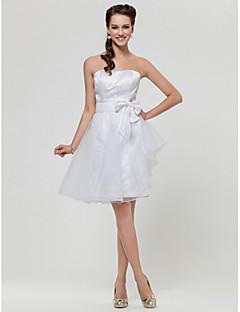 FRANTISKA - kjole til brudepige i organza og satin