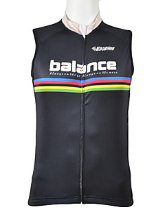 Kooplus Homme Sans Manches Vélo Gilet/Sans Manche Hauts/Tops Séchage rapide Zip frontal Vestimentaire Respirable 100 % Polyester