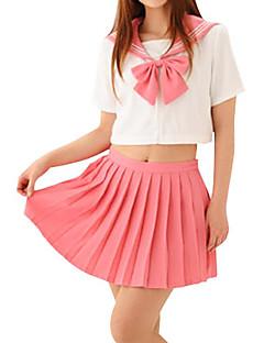 Sexy Girl Pink Candy Polyester Schuluniform (2 Stück)