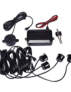 Parking System with 4 Radar+Control Box+Buzzer,Black
