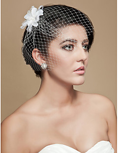 Wedding Veil One-tier Blusher Veils / Birdcage Veils Cut Edge Tulle