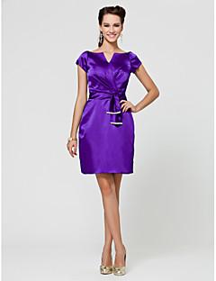 Robe de Demoiselle d'Honneur - Indigo Fourreau Col en V Longueur genou Satin Stretch Grandes tailles