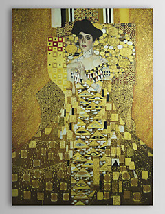 Mrs. Adele Bloch-Bauer,1907 by Gustav Klimt Museum Quality with Gold Foil