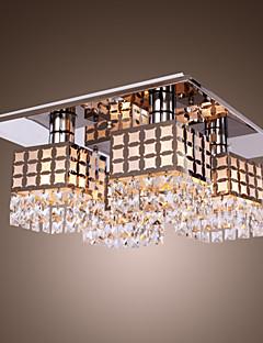 sl® lysekrone moderne krystall rustfritt leve 4 lamper