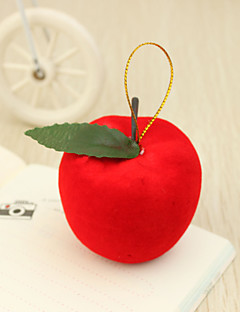 Big Red Apple Julepynt (Sett med 6)