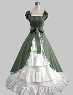 Jednodílné/Šaty Sweet Lolita Lolita Cosplay Lolita šaty Jednobarevné Krátký rukáv Long Length Šaty Pro Bavlna