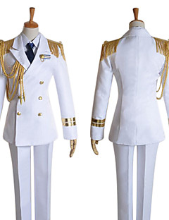 Inspired by Uta no Prince Sama Ai Mikaze Video Game Cosplay Costumes Cosplay Suits Solid White Long SleeveCoat / Shirt / Pants / Hat /