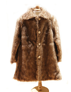 Kids' Wraps / Fur Wraps / Fur Coats Coats/Jackets Long Sleeve Faux Fur Brown Wedding / Party/Evening Button / Ruched Clasp