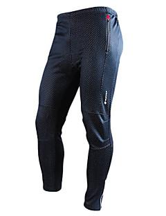 Nuckily Calças Para Ciclismo Homens Moto Calças Térmico/Quente Vestível Respirável Elastano Poliéster Tosão Cor Única Outono Inverno