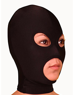 Black Lycra Mask with Eye and Mouth Openings