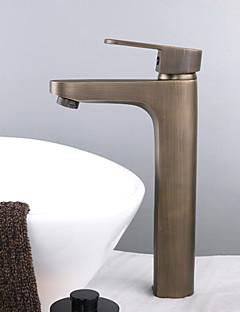 Pesuallas Yksi kahva yksi reikä in Antiikkimessinki Kylpyhuone Sink hana