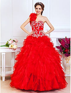 Prom / Formal Evening / Quinceanera / Sweet 16 Dress - Open Back Plus Size / Petite A-line / Ball Gown / PrincessOne Shoulder /