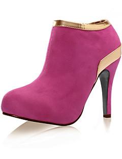 schoenleest hoge hak enkellaars met glanzende band mode schoenen