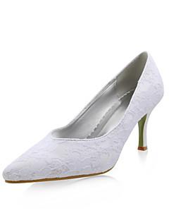 damskor spetsig tå stelitto häl spets pumpar bröllop skor fler färger tillgängliga