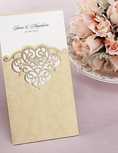 """Șal & Buzunar Invitatii de nunta 50-Invitații Stil Clasic Hârtie Cretată 8 ½""""×4 ½"""" (21.5*11.5cm)"""
