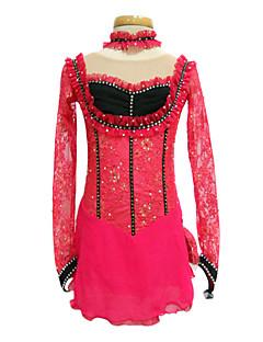 Longsleeve liten krage Konståkning Kläder Röd