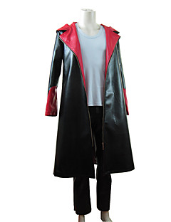 Inspired by Devil May Cry Dante Video Game Cosplay Costumes Cosplay Suits Patchwork Black Long Sleeve Cloak / Vest / Pants
