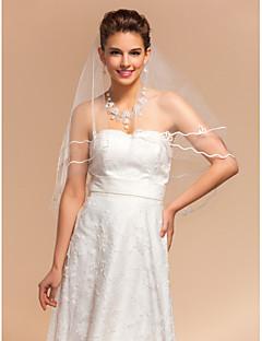Elegante Elegante monistico nozze veli gomito con bordo matita