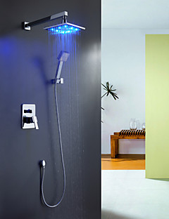 Sprinkle® Duscharmaturen  ,  Moderne  with  Chrom Ein Griff Vier Löcher  ,  Feature  for LED / Wasserfall