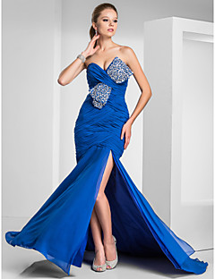 TS Couture® Formal Evening / Prom / Military Ball Dress - Royal Blue Plus Sizes / Petite Trumpet/Mermaid Sweetheart / Strapless Sweep/Brush Train