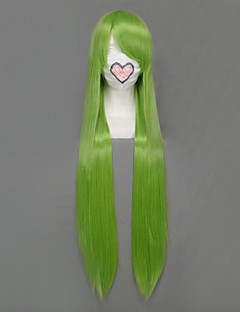 Cosplay Wigs Fairy Tail Fried Justine Green Long Anime Cosplay Wigs 100 CM Heat Resistant Fiber Female