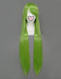 פאות קוספליי סיפור אגדה Fried Justine ירוק ארוך אנימה פאות קוספליי 100 CM סיבים עמידים לחום נקבה