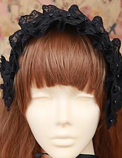 Lolita Jewelry Gothic Lolita Headwear Lolita Black Lolita Accessories Headpiece Solid For Men / Women Cotton