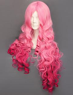 코스프레 가발 코스프레 Ringo Tsukimiya 핑크 롱 아니메/비디오게임 코스프레 가발 90 CM 열 저항 섬유 여성