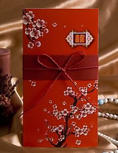 """Unpersonalisierte Gefaltet Hochzeits-Einladungen Einladungskarten Künsterlischer Stil / Blumiger Stil Kartonpapier 8 ½""""×4"""" (20.8*10.3cm)"""