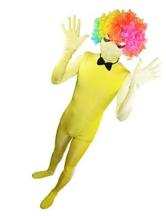 Yellow and White Grandient Full body Spandex Zentai (without Wig and Cravat)