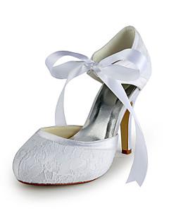 sapatas das mulheres rodada toe de cetim de salto stiletto bombas de sapatos de casamento mais cores disponíveis