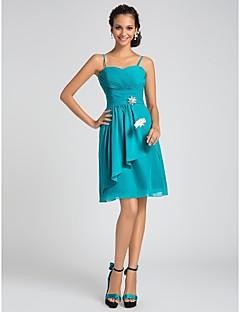 신부 들러리 드레스 - 제이드 A라인/프린세스 무릎길이 스위트하트/스파게티 스트랩 쉬폰 플러스 사이즈