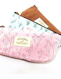 tekstil blomst landdistrikterne blyant taske (tilfældige farver)