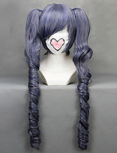 Cosplay Wigs Black Butler Ciel Phantomhive Purple Medium Anime Cosplay Wigs 70 CM Heat Resistant Fiber Female