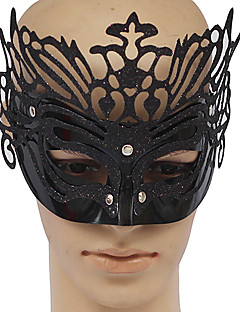 Black PVC Party Queen Masquerade Mask