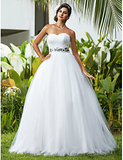 Lanting Ball Gown Petite / Plus Sizes Wedding Dress - Ivory Floor-length Sweetheart Tulle