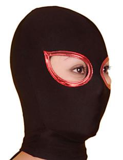 Musta ja punainen Open Eyes Unisex Shiny Metallic Hood