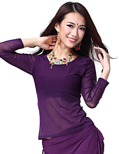 Dancewear Crystal Cotton and Tulle Belly Dance Top For Ladies More Colors
