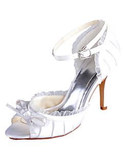 Women's Wedding Shoes Peep Toe Sandals Wedding Ivory/White